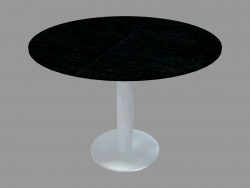 Dining table (black stained ash D100)