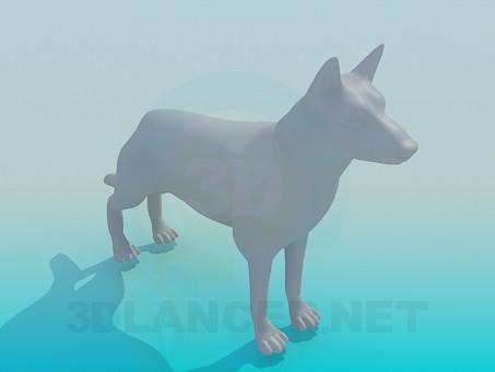 3d модель Собака – превью