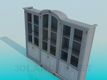 3d модель Шкаф с дверцами – превью