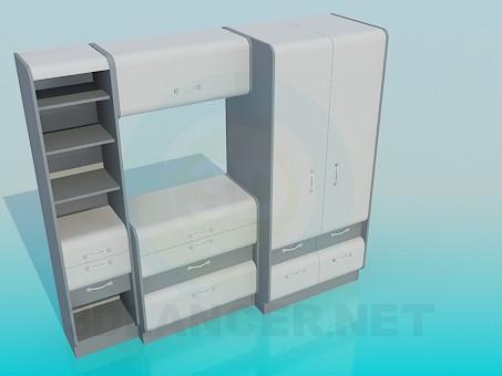 descarga gratuita de 3D modelado modelo Los muebles en el dormitorio