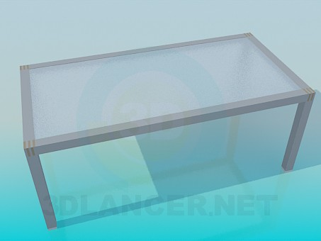 3d model Table with glass Matt surface - preview