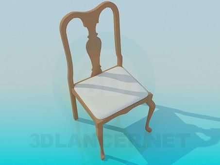 descarga gratuita de 3D modelado modelo Silla para el comedor