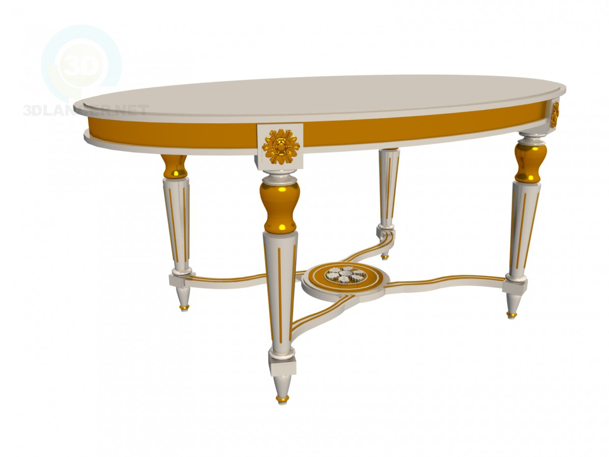3d model Baroque table - preview