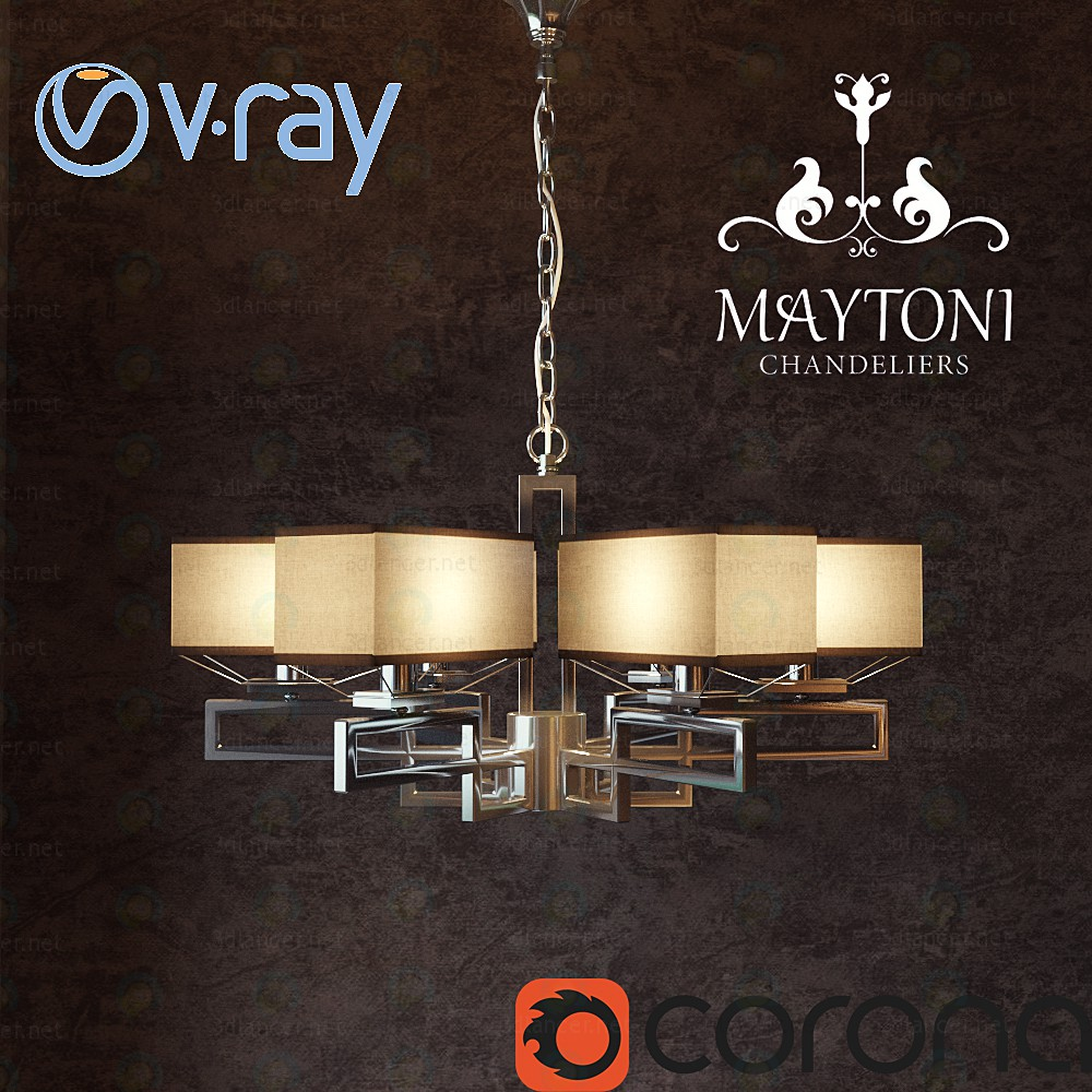 Chandelier Megapolis Maytoni MOD906-06-N paid 3d model by maxx_trump preview