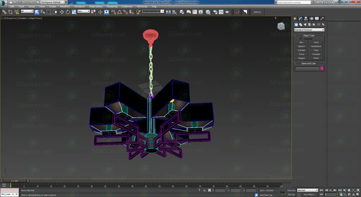 3d Chandelier Megapolis Maytoni MOD906-06-N model buy - render
