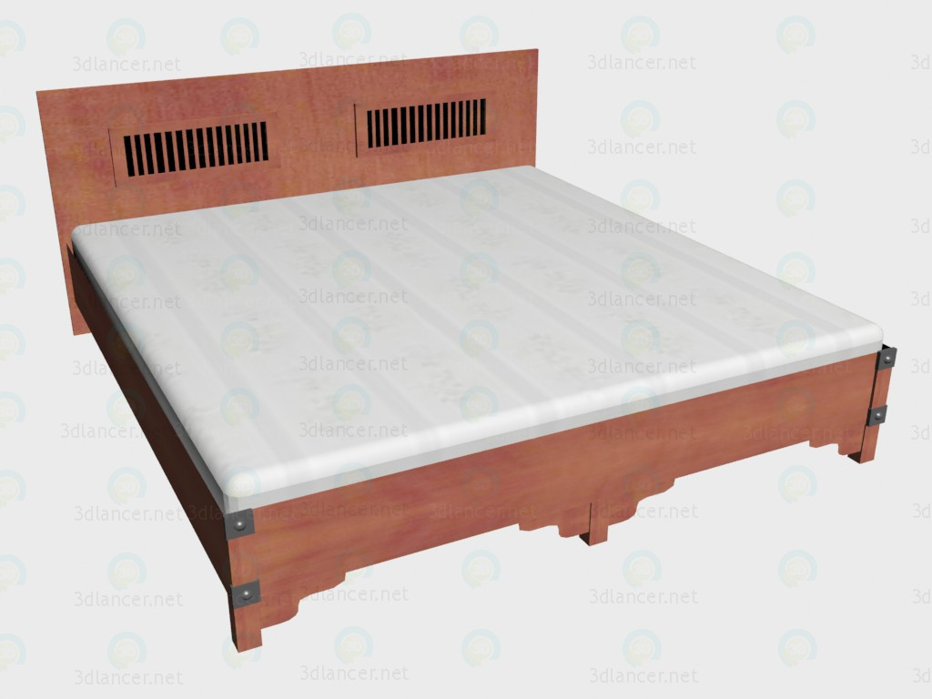 3d model Double bed 180x200 - preview