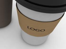 Copo de café de papel 3d