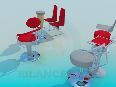 3d model Chairs for bars, cafes - preview