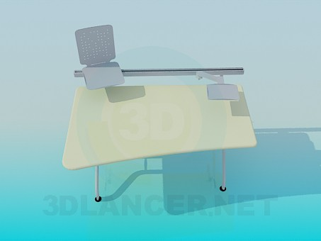 3d model Computer desk with stands - preview