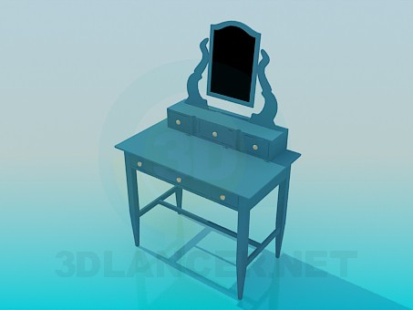 3d model Dressing table with drawers - preview