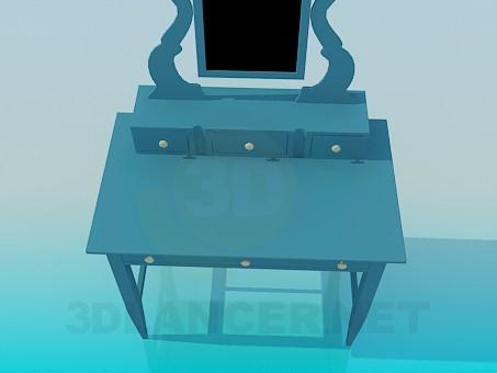3d модель Трюмо с выдвижными ящиками – превью