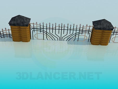 3d model Wall - preview