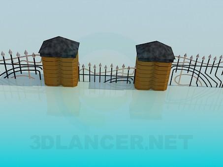 modelo 3D Pared - escuchar