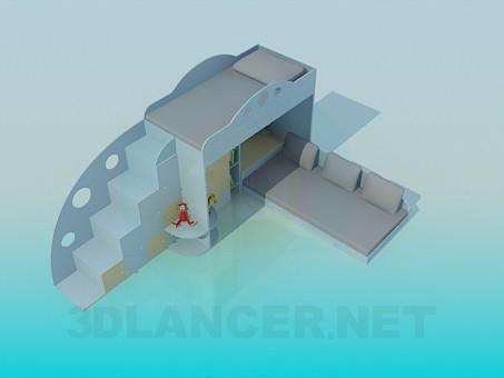 modelo 3D Litera para niños - escuchar