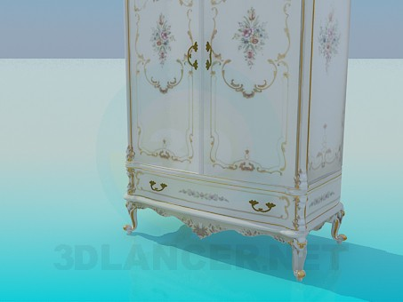 3d model Baroque cabinet - preview