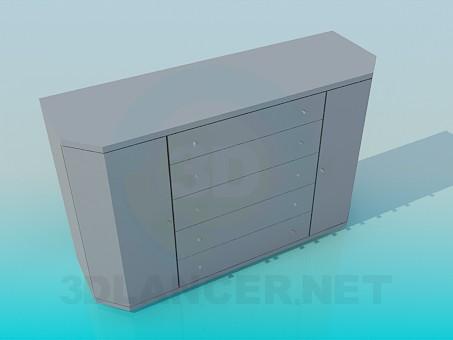 3d модель Комод со срезанными углами – превью