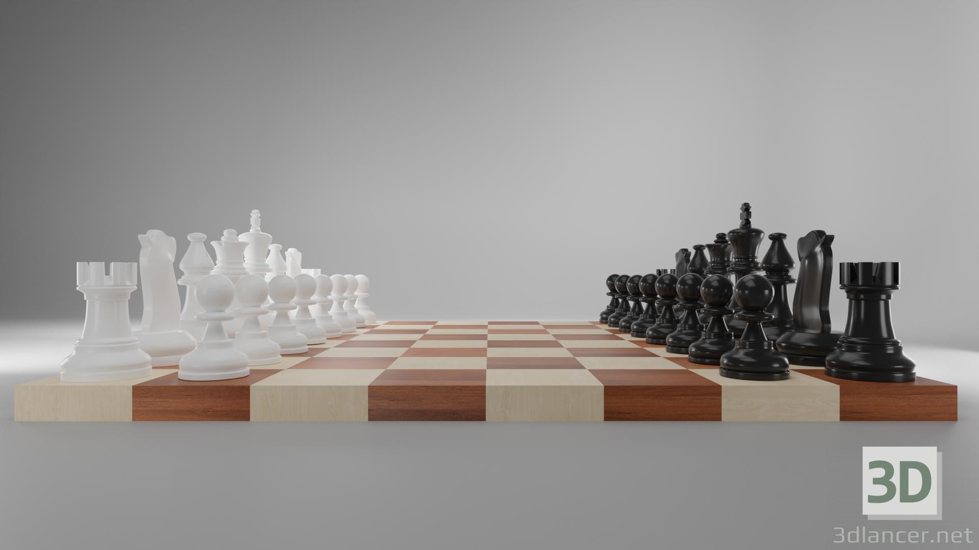 3d Chess chess model buy - render