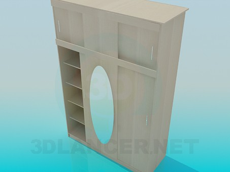 modelo 3D Armario con un estante superior para pasillo - escuchar