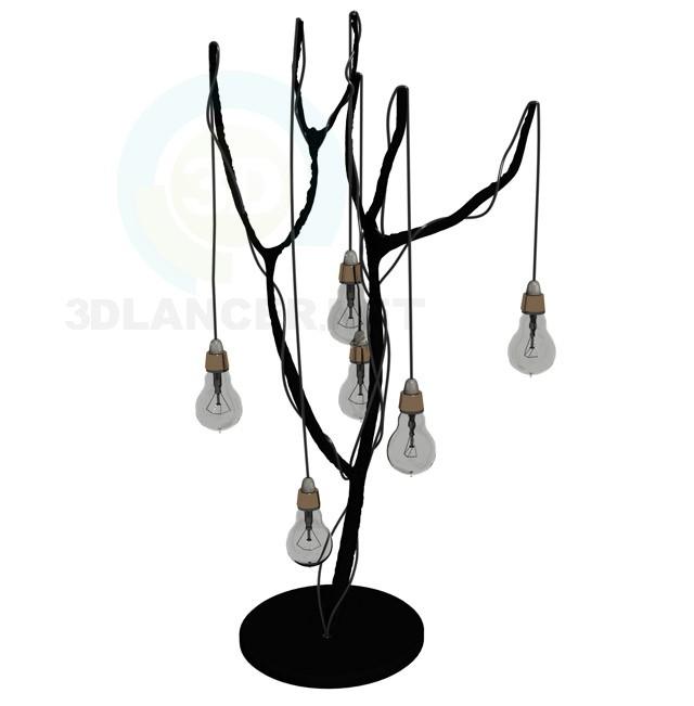 3d модель Лампа дизайнерская – превью