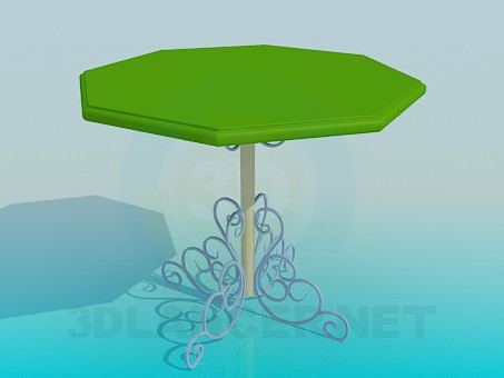 3d модель Уличный столик – превью