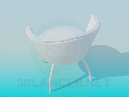 3d model Stylish chair - preview