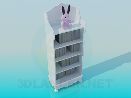 3d модель Детская этажерка – превью