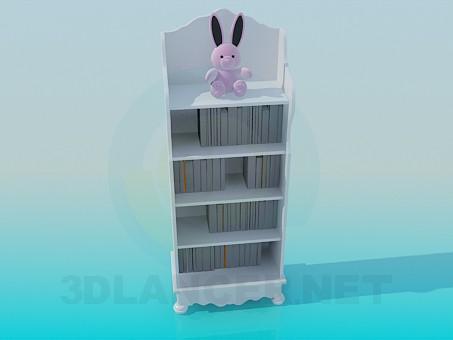 modelo 3D Librería de los niños - escuchar