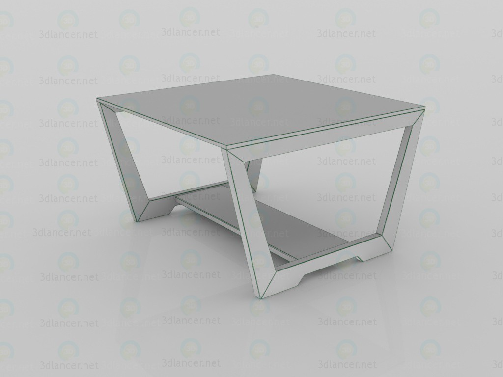 3d Coffee table ALICE 1 model buy - render