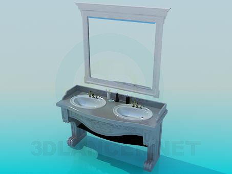 3d model Antique washstand - preview