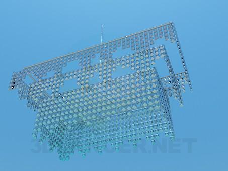 3D Modell Kristall-Kronleuchter - Vorschau