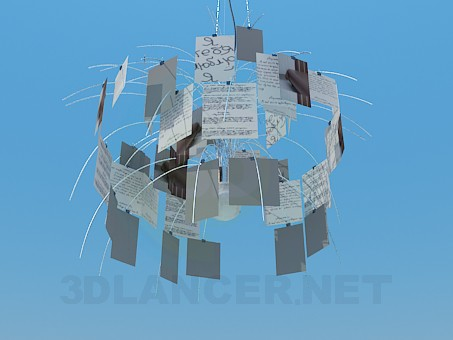 3d modeling The chandelier in the form of postcards model free download