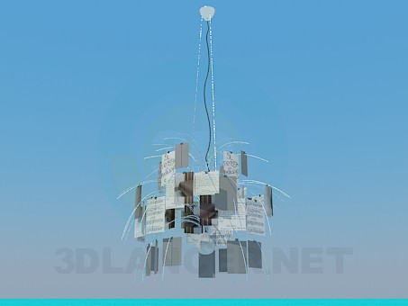 3d model The chandelier in the form of postcards - preview