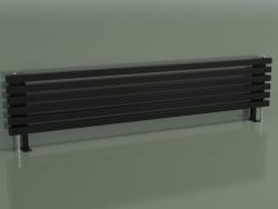Radiatore orizzontale RETTA (6 sezioni 1800 mm 40x40, nero lucido)