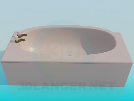 3d моделирование Бежевая ванна модель скачать бесплатно