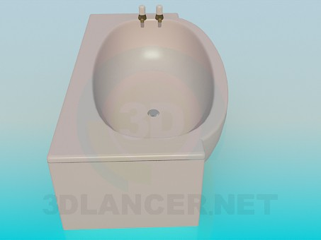 3d model Beige bath - preview