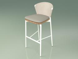 Bar stool 050 (Sand, Metal Milk, Teak)