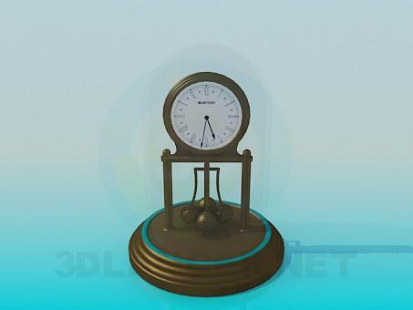 descarga gratuita de 3D modelado modelo Relojes debajo de una tapa de vidrio