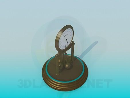 3d модель Годинники під скляним ковпаком – превью
