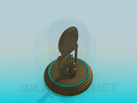 modelo 3D Relojes debajo de una tapa de vidrio - escuchar