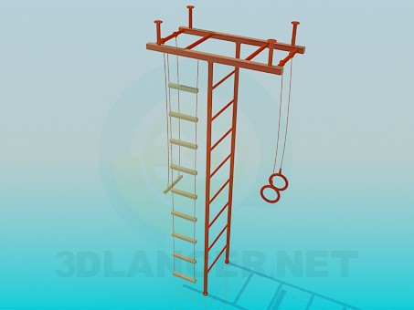 3d model Wall bars - preview
