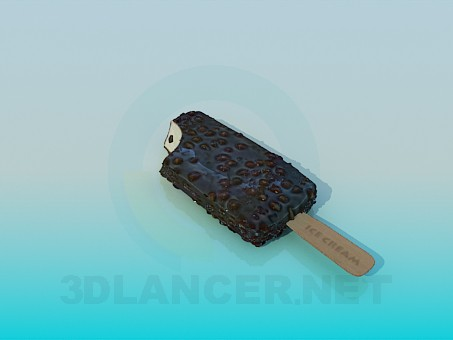 3d model Chocolate ice cream - preview