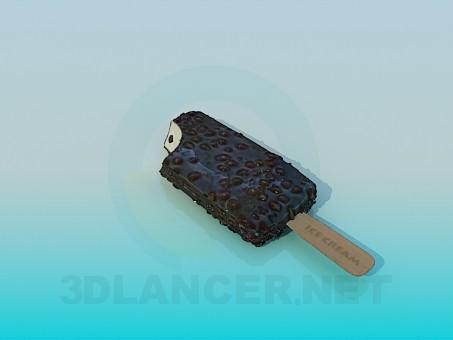 3d модель Шоколадное мороженное – превью