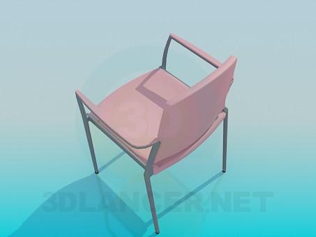 modelo 3D Silla acolchada - escuchar
