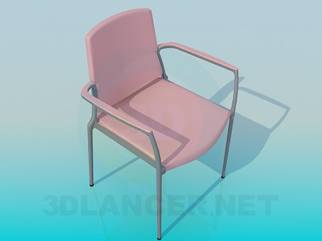 3d model Padded chair - preview