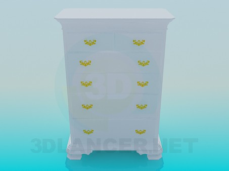 3d model High chest of drawers - preview