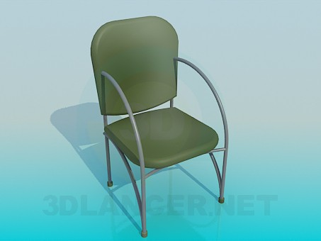 3d modeling Chair with metal armrests model free download