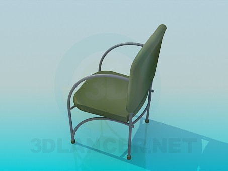 3d model Chair with metal armrests - preview