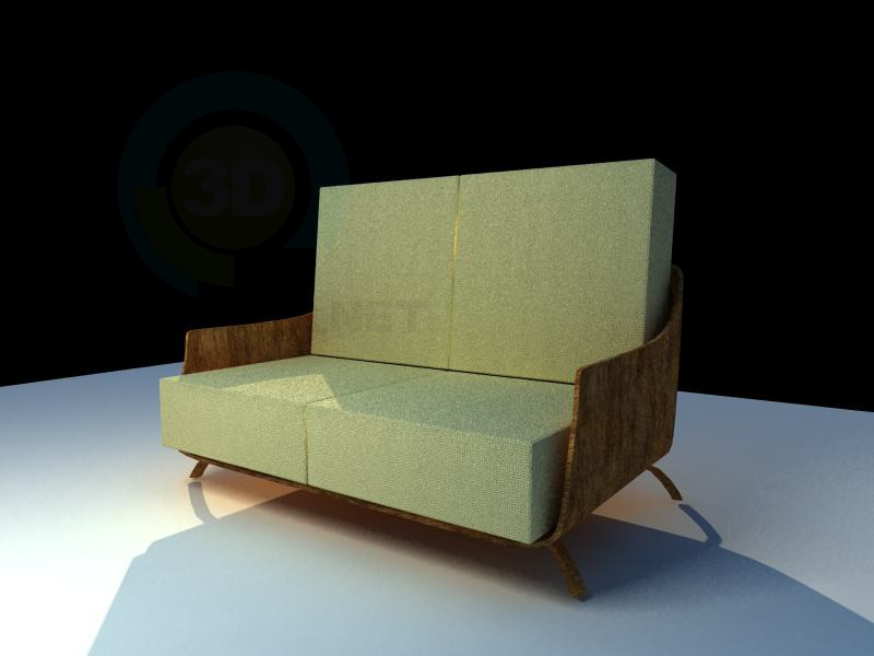 3d modeling Eco - sofa model free download