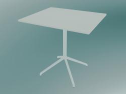 Cafe table Still (65x75 cm, H 73 cm, White)