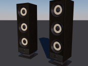columnas modelo 3D Low-poly